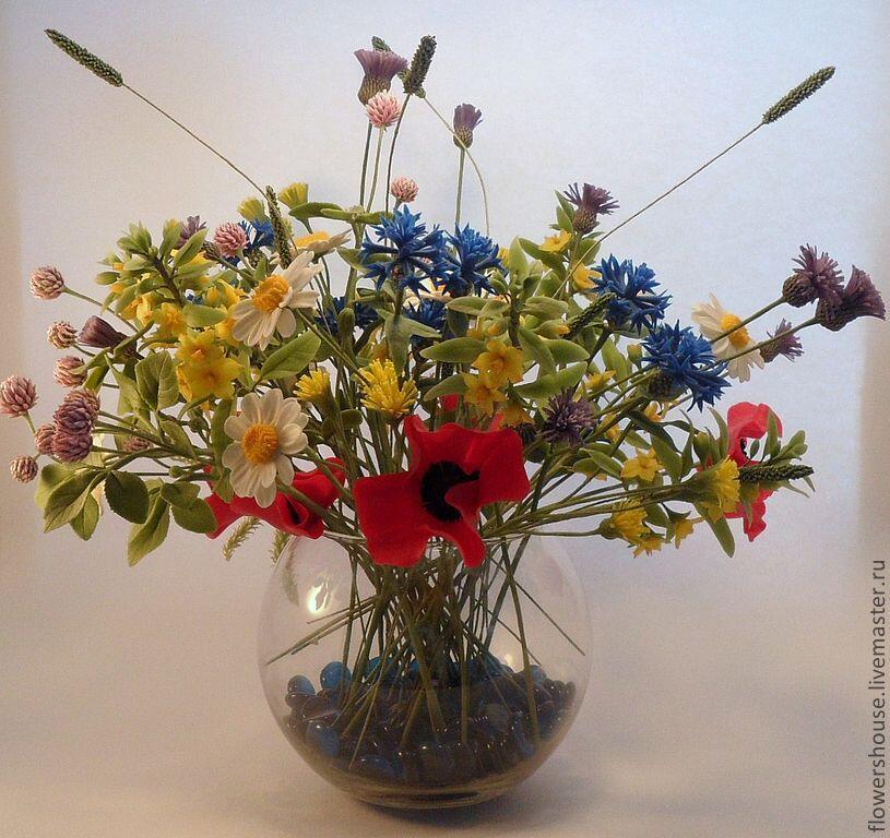 Как сделать букет из полевых цветов своими руками 66