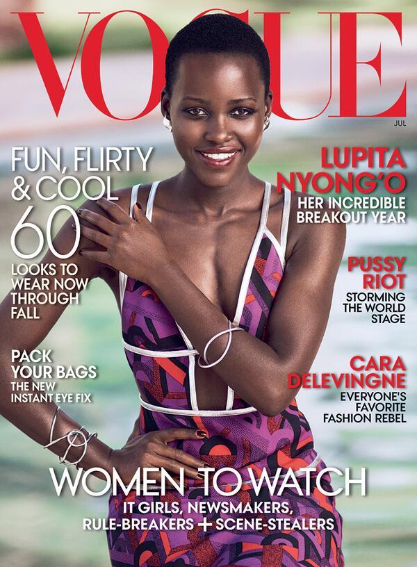 .@Lupita_Nyongo covers the July issue of @voguemagazine!! #TeamID #Lupita #LupitaNyongo http://t.co/hd4ueEMOrp