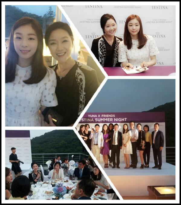 yuna  friends  j.estina summer  night    세계 최고의 요정~~김연아 선수와 함께한 J에스티나 행사장에서^^ http://t.co/1l1rthb3gU