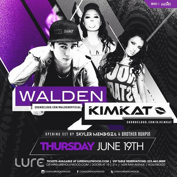 """@OfficialKimlee: LA!!! See you tonight at @LureHollywood @djkimkat http://t.co/08VRWnnJvE"""