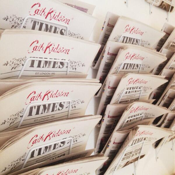 now this is a newspaper that i'd like to read @cath_kidston #CKAW14 http://t.co/cH8bRTNo0s http://t.co/pTmwUHUBlu