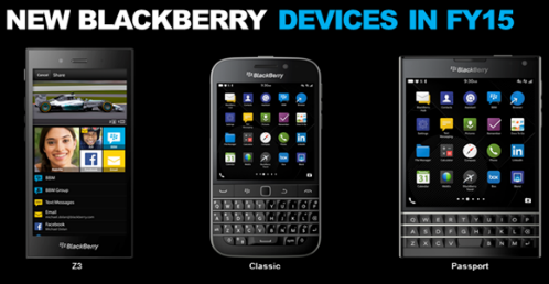 First official look of BlackBerry Passport and BlackBerry Classic! http://t.co/pa7mSGMJFy