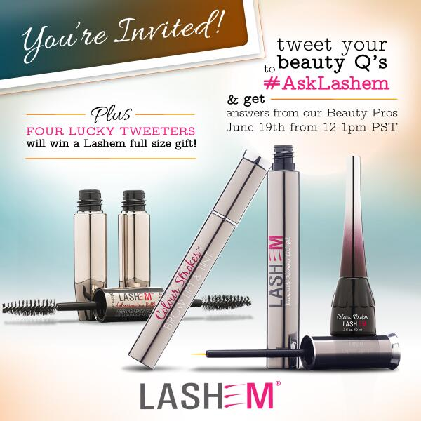 T-minus 4hrs to our #AskLashem beauty chat & #giveaway! RT if you're joining us! http://t.co/DOerNr7R1D