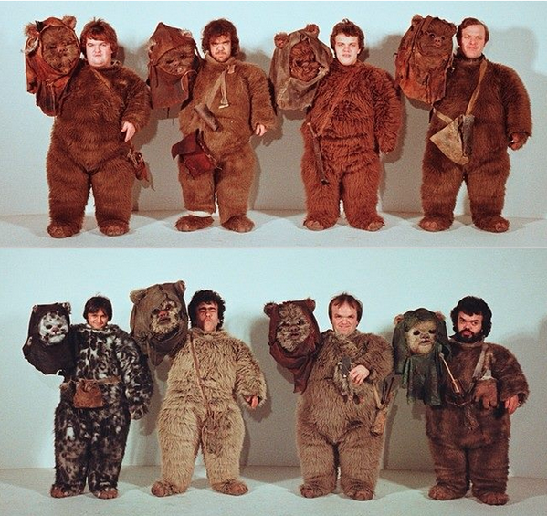 Some of the actors who played Ewoks in Return of the Jedi. #StarWars http://t.co/HyR8JFP8B0