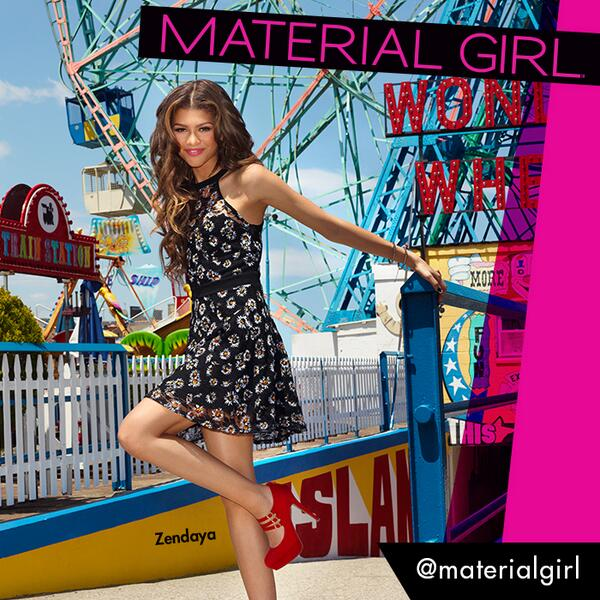 So excited to announce... @Zendaya for Material Girl! #Zendaya4MG #BoardwalkBabe @Macys http://t.co/1pliWDLgm5