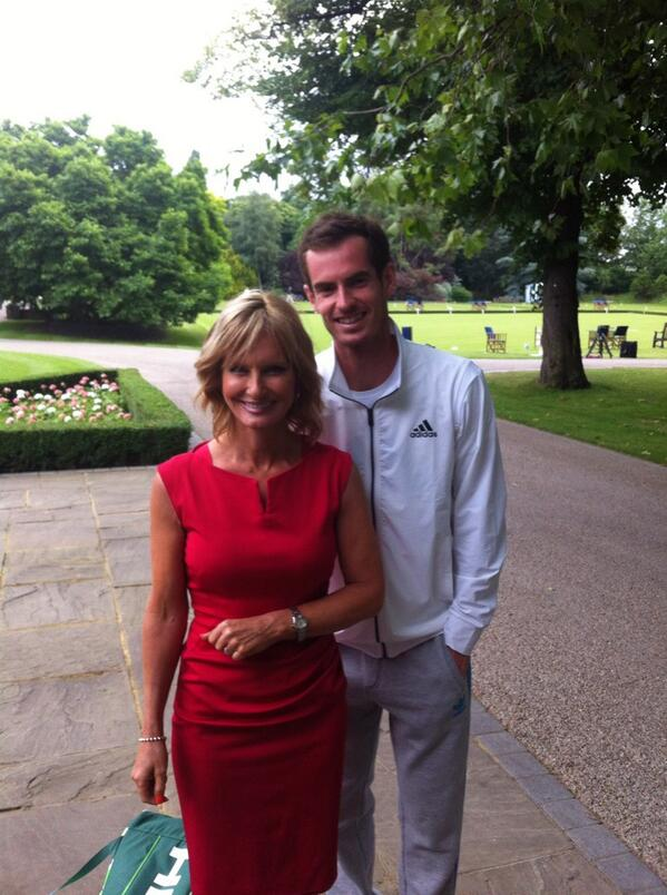 6 months after my breast cancer diagnosis & chemo I'm back at work ! Interviewed @andy_murray ahead of Wimbledon http://t.co/I4LVRQnniZ