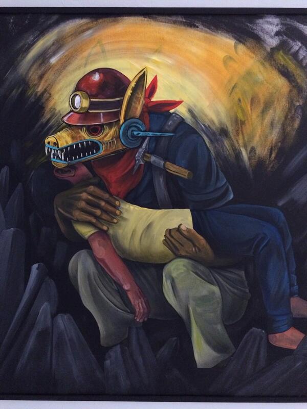 """Hoy se inaugura la exposición """"la locura de un hombre desconocido"""" en el @Museoartecont de San Luis. Los esperamos http://t.co/1AD17eCxxe"""