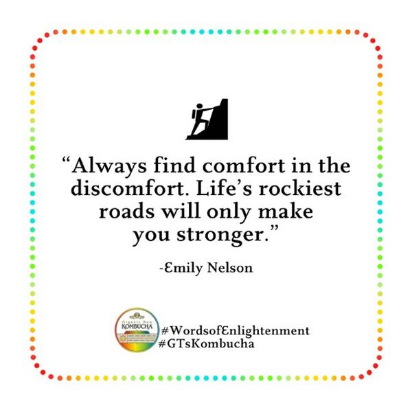'Always find the comfort in the discomfort. Life's rockiest roads will only make you stronger.' #WordsOfEnlightenment http://t.co/Ny9GMofj0P