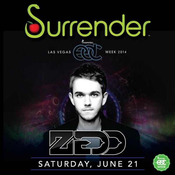 The only place you'll find @Zedd this #EDC week is @SurrenderVegas this Sat, 6/21!  Tickets: http://t.co/atLAua7bNW http://t.co/oYVudScFiK