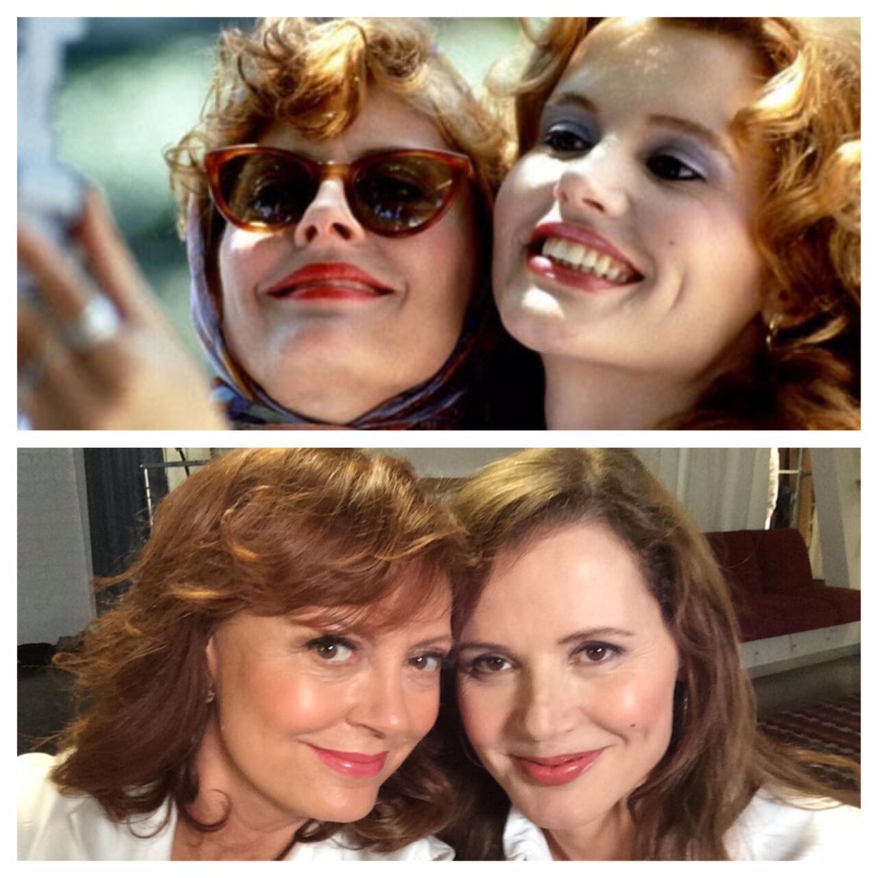 RT @SusanSarandon: Inventors of the #selfie at it again. #ThelmaAndLouise http://t.co/1yvbF8j4fF