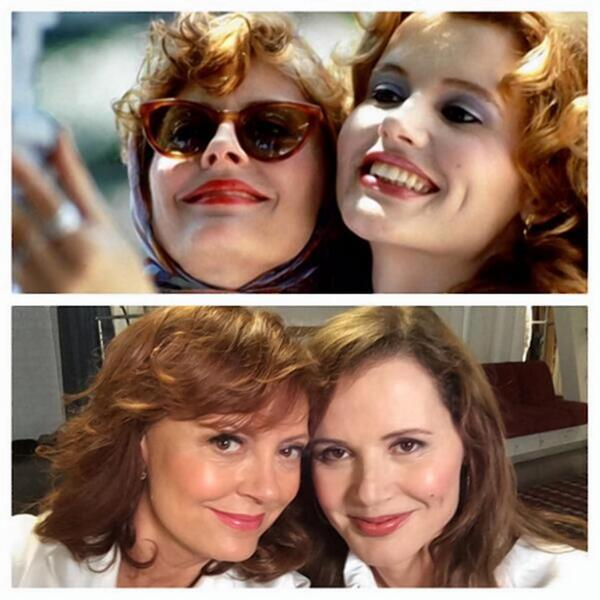 23yrs. RT @NYDailyNews: Susan Sarandon and Geena Davis recreate selfie from 'Thelma & Louise.' http://t.co/Q3OIcAgREL http://t.co/jbgemrF3mL