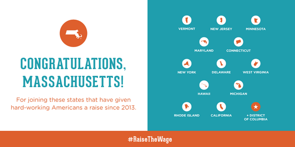 Massachusetts, this is what progress looks like. #RaiseTheWage http://t.co/Owwej5Ziot