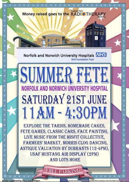 It's the NNUH Summer Fete tomorrow from 11am. Free parking & admission. Lots to see, do & eat. See you there! Pls RT http://t.co/hVsfG1hzm1