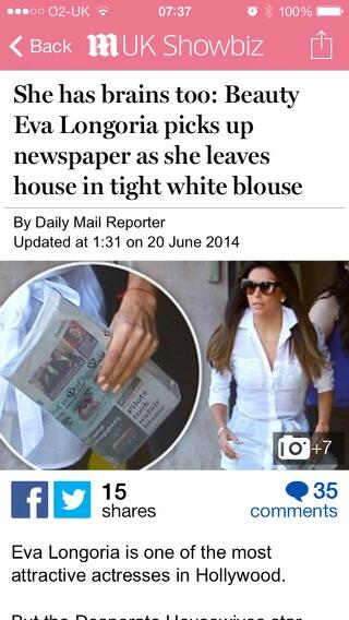 Imagine being able to read a newspaper and wear a 'tight white blouse'. Doesn't seem fair to the rest of us somehow http://t.co/FXlgcBat3S