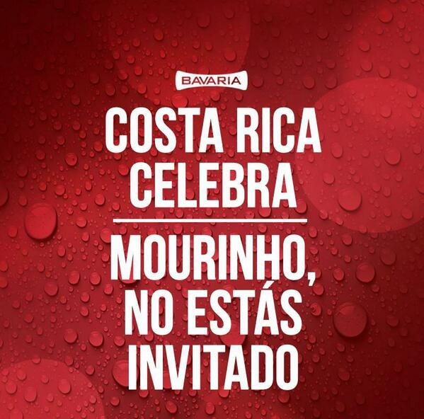 ¡Costa Rica celebra! #Mourinho #CRC #LaSele #Bavaria http://t.co/85BtMVIIQI