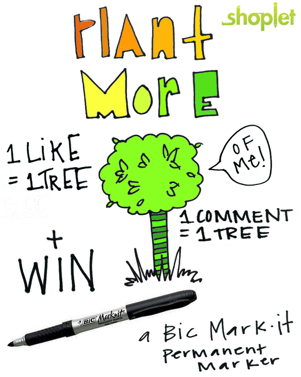 For each RT, we'll plant a tree with @Treesftf & enter you to #WIN a Bic permanent marker! #GIVEAWAY #CARESHAREGROW http://t.co/J8tdgcGQEJ