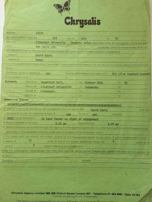 What an incredible find! A David Bowie contract from a 1972 concert at the guild! #retroguildevents http://t.co/53WNinY191