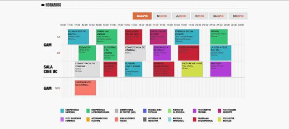 La hermosa grilla de #fidocs. Revisa los horarios y arma tu calendario,... que este #FIDOCS no te lo puedes perder... http://t.co/6KP0rIRGg3
