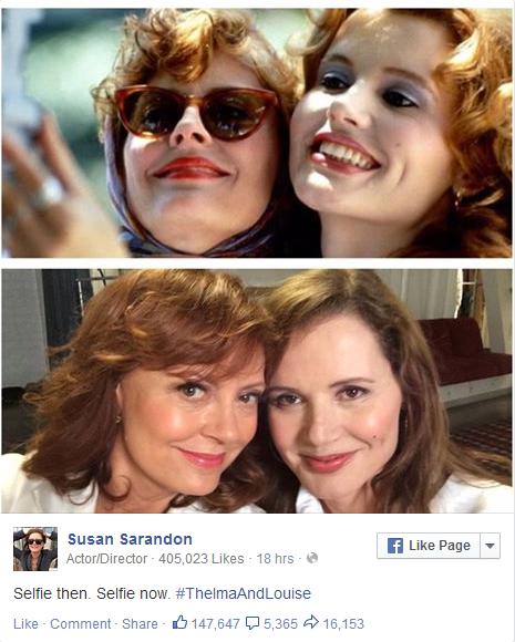 <3 RT @vulture: Thank you, @SusanSarandon. Thelma & Louise reunited for an updated selfie:  http://t.co/FORkhLpGak http://t.co/wM9OV8k8Fc