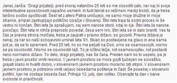 Govor Janeza Janše http://t.co/3Rj8KKzUui