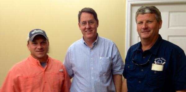 With Greg Mims, President of Ga Young Farmers and @tylerharper4georgia at Ga Young Farmers board meeting. http://t.co/tIIhc9ejlu