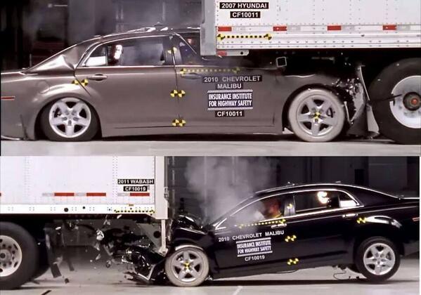 الفرق في نتيجة الحادث بين الشاحنة المزودة بمرد خلفي والغير مزودة به @tmclebanon @lebanondebate @ziadakl @roydaccache http://t.co/h77BFGRmWd
