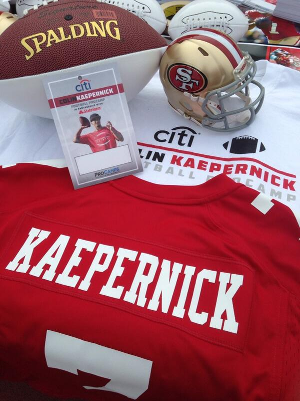 Getting ready for our @CitiPrivatePass @Kaepernick7 ProCamp! #PrivatePassSports http://t.co/sr5wOMFPnZ