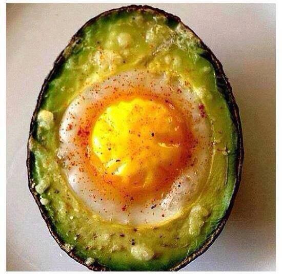 Here's a delicious breakfast idea. Baked avocado and egg. http://t.co/pFLpITQhQY