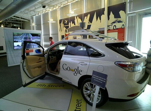 The Google Self-Driving car the @ComputerHistory museum http://t.co/GWn6eJXlch