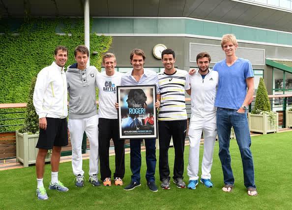 @rogerfederer w/ @NieminenJarkko @robin_haase @kevinanderson18 @stako_tennis #Simon @Andre_Sa77 ... @Wimbledon #ATP http://t.co/Iy8pqM1znP