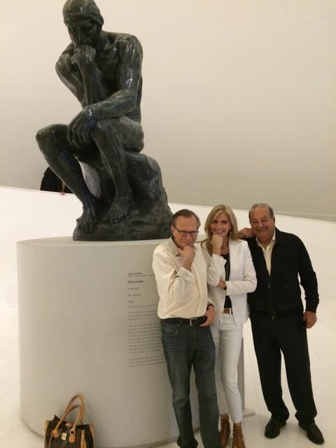 Thinking & thinking & thinking w/ @CarlosSlim, @kingsthings & Rodin's  Thinker At Museo Soumaya. Loving Mexico City! http://t.co/6bihts621D