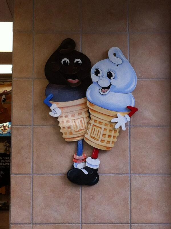 I think @DairyQueen has a message here, but I don't know if it's about race, amputees, or both. http://t.co/eHuHdOKRvr