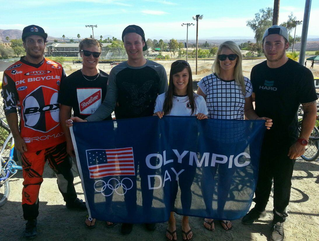 #OlympicDay2014 BMX Olympians! @Marcwillers @SW91 @niclong64 @alisepost11 @LR21BMX @kurtpickard http://t.co/O1pXqbUhxL