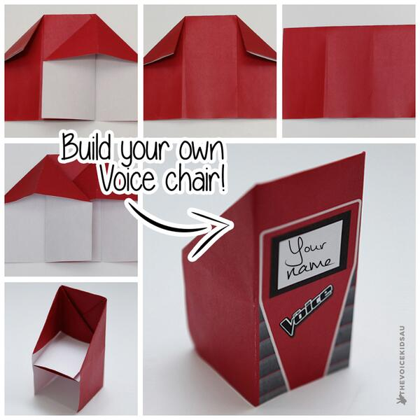 Make Your Own Voice Chair! Instructions → Http://t.co/