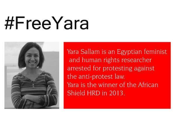 #FreeYara http://t.co/UvabpEVu4L @YaraSallam
