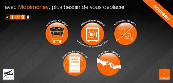 Orange Tunisie (@OrangeTN): Découvrez le service Mobimoney qui vous permet d'effectuer des paiements électroniques via mobile. Composez *119#. http://t.co/rJyiOfE3jt
