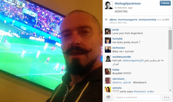 <3 RT @FIFAWorldCup: STAR PIC:  @RealHughJackman is loving #KORALG and the #worldcup! #Joinin http://t.co/DGIvXDpa2N http://t.co/ioLM7eQkBf