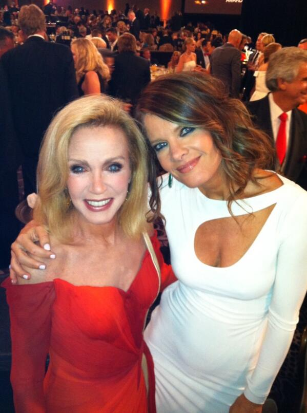 Just introduced the legendary Donna Mills to her #GH daughter @therealstafford
