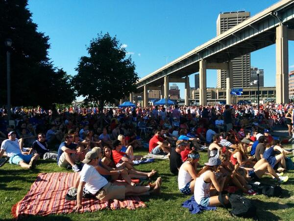 A few years ago, this sort of turnout in downtown Buffalo to watch soccer on television would have been unimaginable http://t.co/4wsKylJ7ja