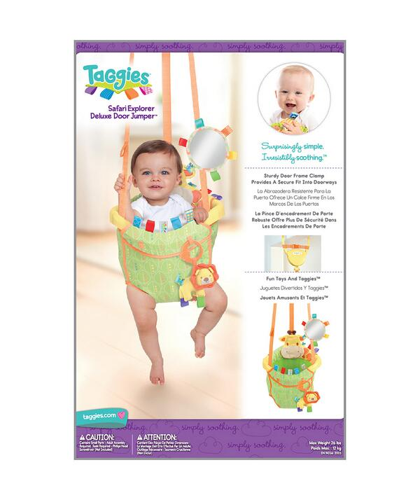 We have 2 Safari Door Bouncers to giveaway for review. Describe your baby's personality in 1 word. Ends midnight http://t.co/Rsl7tyOUge