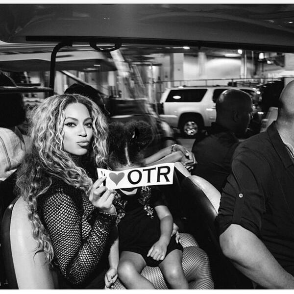Beyoncé loves OTR #thisisotr http://t.co/jA5IPqKoUz