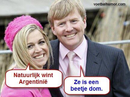 Maurice Wijnen (@mauricewijnen): Hahaha RT @VOETBALHUMORcom: Willem Alexander en Maxima over Nederland-Argentinië. #nedarg http://t.co/2DY4B2UVCl