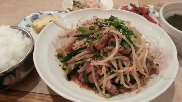 アニョハセヨ~!久しぶりにいつもの韓国料理屋さんでランチ!マシッタマシッタ!! http://t.co/c8InT8imTb
