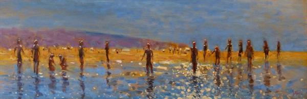 Lets Have a paddle :-) ..The Paddlers .oil. http://t.co/hQZtoWZhPt