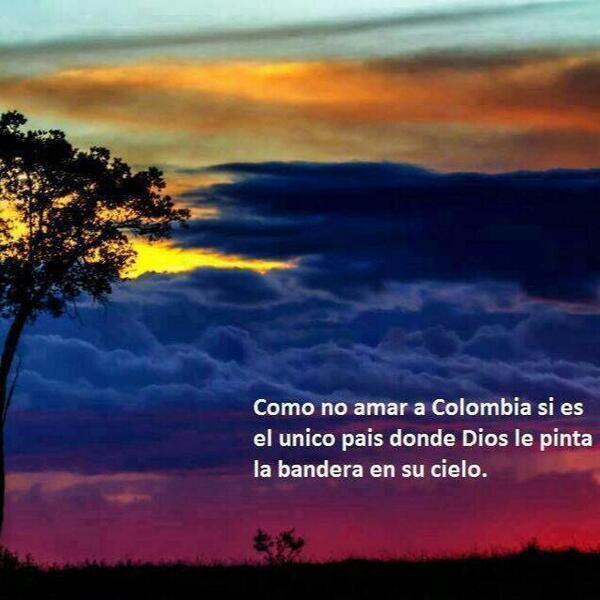 Como no amar a Colombia si es un regalo de Dios! #GraciasMiSeleccion  Paz y unidad! estas de acuerdo? RT http://t.co/cpbmmTiDSG