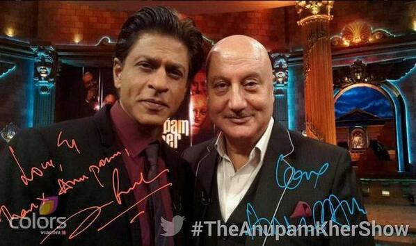 Video:   SRK on The Anupam Kher Show, Full Episode-1, July 6th, 2014  http://t.co/QmYitkb1oX @iamsrk @AnupamPkher http://t.co/ZVi9Hg2vcQ