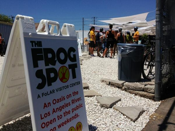 frog spot is an oasis for walkers & cyclists along the #LAriver pat... http://t.co/jBMglFt4hI http://t.co/qf7XyP8XDN