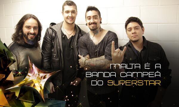 Viva o Rock!!! RT @superstargshow: Banda @malta_oficial é a grande vencedora do #SuperStar! http://t.co/UwUJ2CjDCW http://t.co/OLCYvtAGdM