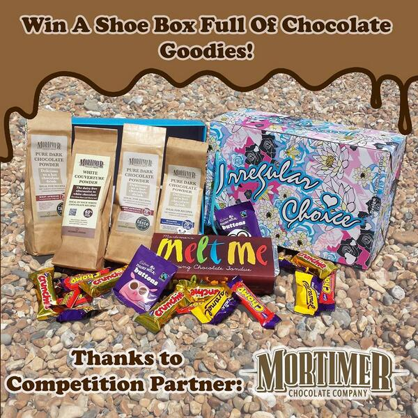 Retweet this post and follow to win a Irregular Choice Shoe box filled tasty chocolate treats from @MortimerChoc http://t.co/KAkTynWIa5
