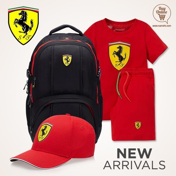 Namshi متجر نمشي  (@NamshiDotCom): وصلنا ! اطقم رياضة  كابات شنط  أطقال ماركة #Ferrari!  اضغط للتسوق- http://t.co/p8tNfOauJX  #تطبيق_نمشي #السعودية http://t.co/fe7MV2DMGJ